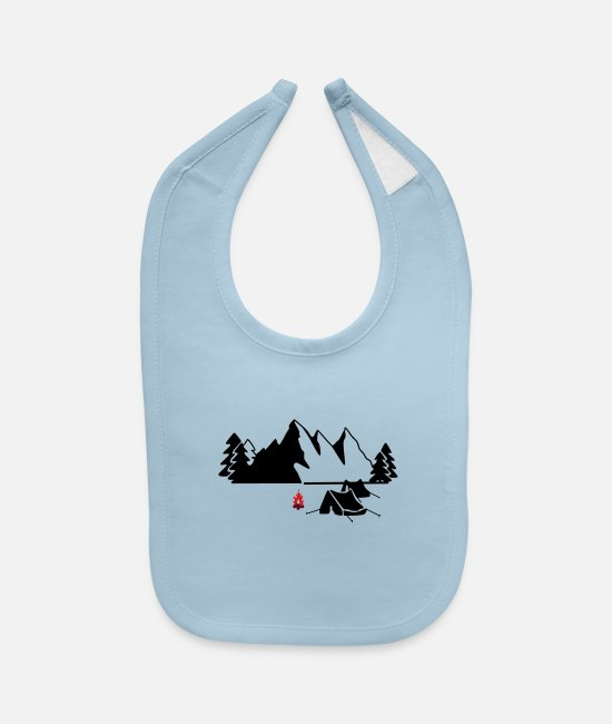 Mountains Baby Bibs - outdoor,Outback,camping,Cannon,rocky mountain ✔ - Baby Bib light blue
