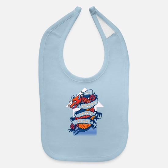 Game Baby Clothing - Battle School Ink - Baby Bib light blue