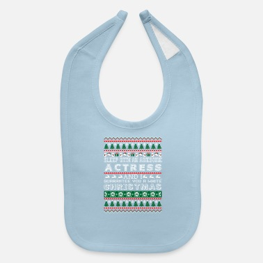 Actress Sleep With Awesome Actress White Christmas - Baby Bib