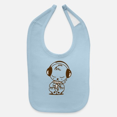 Mp3 Little bear with an MP3 Player - Baby Bib