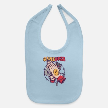 Game Over Smiley Game Over - Baby Bib