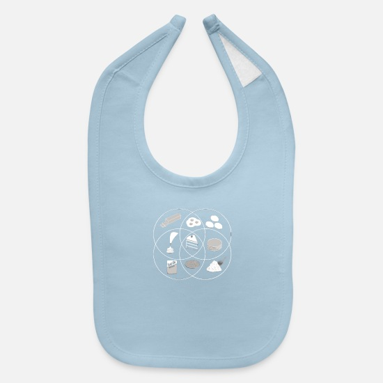 Game Baby Clothing - The Cake is a Venn - Baby Bib light blue