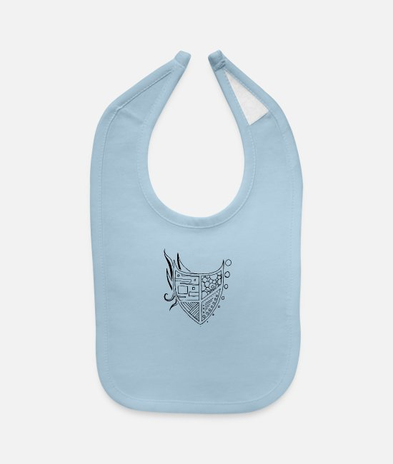 Art Baby Bibs - Illustrator coat of Arms - Baby Bib light blue