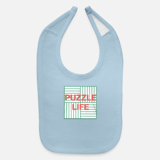 Passion Baby Clothing - PUZZLE LIFE - Baby Bib light blue