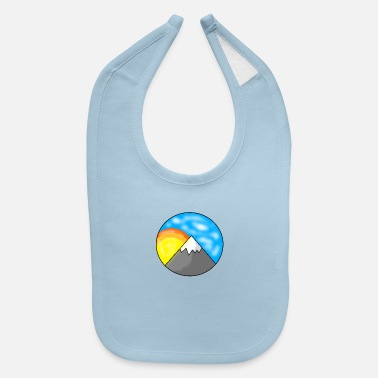 Bright Colours Bright Side of the Mountain - Baby Bib