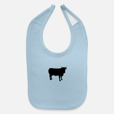 Silhouette Cow Silhouette - Baby Bib