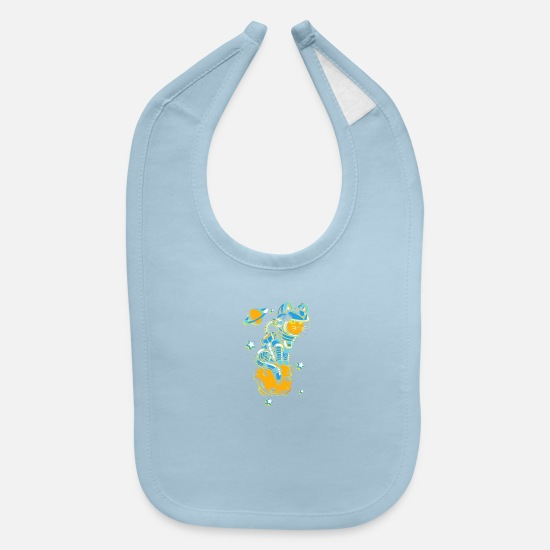 Game Baby Clothing - Space Cat - Baby Bib light blue