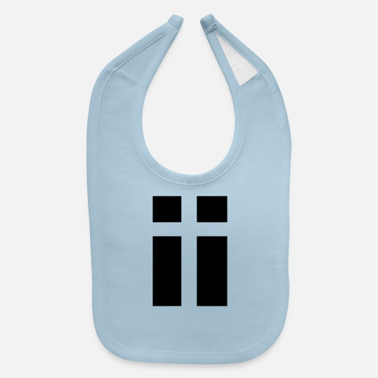 Christian Baby Clothing - cross49 - Baby Bib light blue