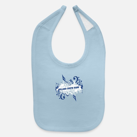 South America Baby Clothing - Millard South Band - Baby Bib light blue
