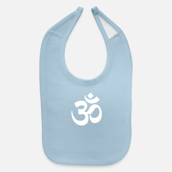 Om Baby Clothing - Om Shirt - Baby Bib light blue