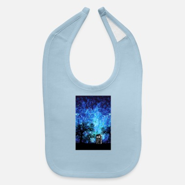 Lonely Blue Phone Booth Starry night Phone case - Baby Bib