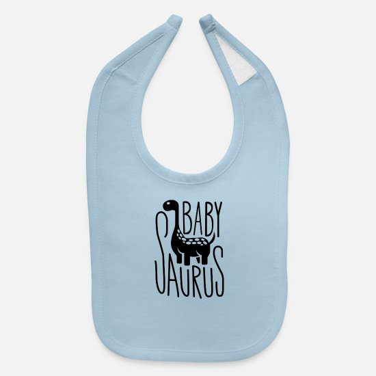 Baby Sayings Baby Clothing - Baby Saurus - Baby Bib light blue