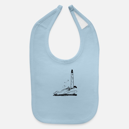 Maritime Baby Clothing - leuchtturm lighthouse coast kueste ocean sea meer2 - Baby Bib light blue