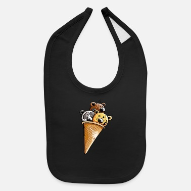 Baby Chocolate bears icecream - Bear - Gift - Fun - Baby Bib