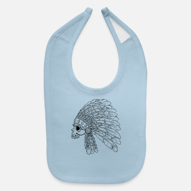 American Indian Native American Indian Skull - Baby Bib