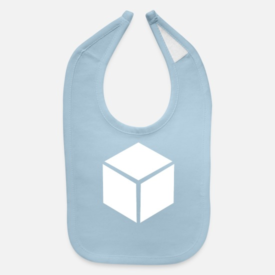 New Baby Clothing - 3d cube - Baby Bib light blue