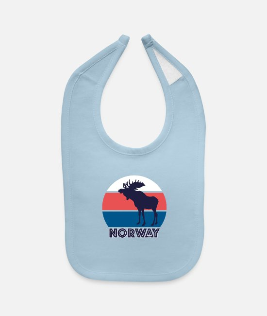 Cool Story Baby Clothing - Norway - Baby Bib light blue