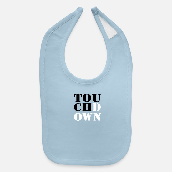 Sports Baby Clothing - Touch Down - Baby Bib light blue