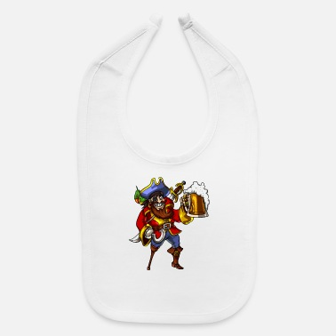 Drinking Pirate Beer Drinking Party Funny Sailor - Baby Bib