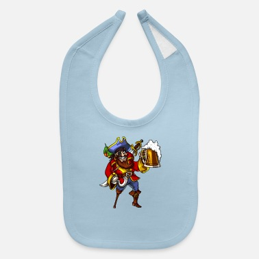 Drink Pirate Beer Drinking Party Funny Sailor - Baby Bib