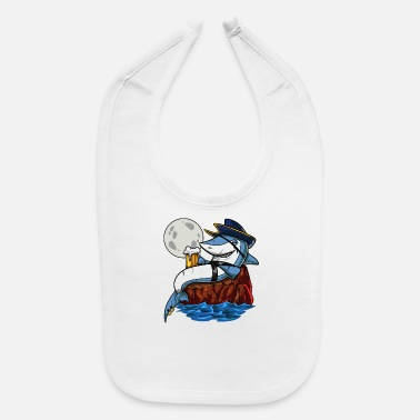 Drinking Shark Pirate Beer Drinking Party - Baby Bib