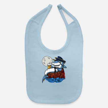 Drink Shark Pirate Beer Drinking Party - Baby Bib
