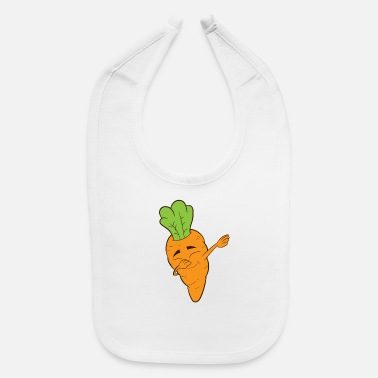 Dabbing Carrot, Root, Vegetable, Vegetarian, - Baby Bib