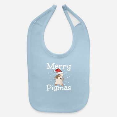 Aunt Merry Pigmas Funny Guinea Pig Christmas Gift - Baby Bib