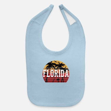 Caribbean Florida Palm Tree Holiday Motif Gift Idea Design - Baby Bib
