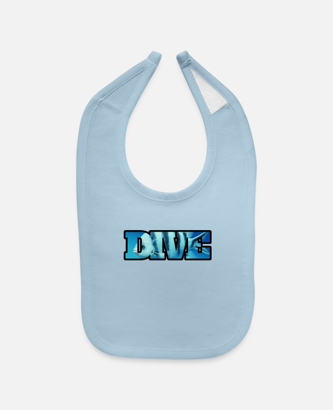 Scuba Diving Baby Bibs - SCUBA Diving - Baby Bib light blue