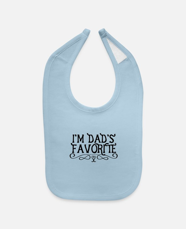 Reunion Baby Bibs - I'm Dad's Favorite - Baby Bib light blue