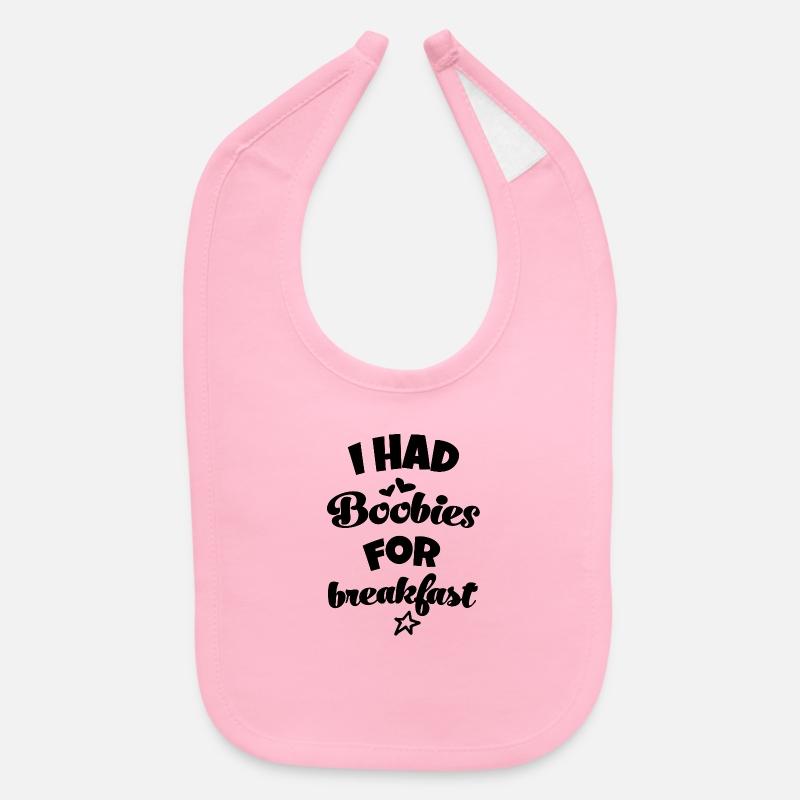 Cute Baby Bib New Baby Gift Funny Baby Gift Funny Baby Bib New Mom Gift Black And Pink Boob Print Baby Bib Booby Print Bib