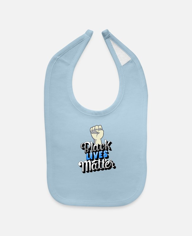 Protest Baby Bibs - Support Black Lives Matter Movement - Baby Bib light blue