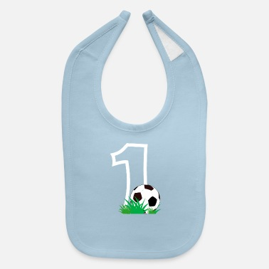 Baby Babys First Birthday Soccer Football Junior - Baby Bib