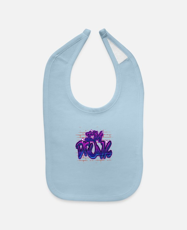 Punk Baby Bibs - Graffiti - Baby Bib light blue