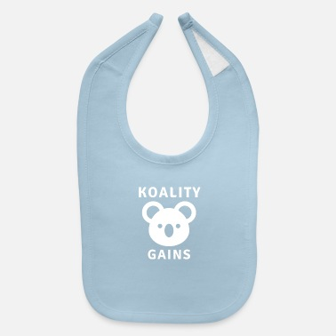 Calum Koality gains - Motivational Fitness Design - Baby Bib