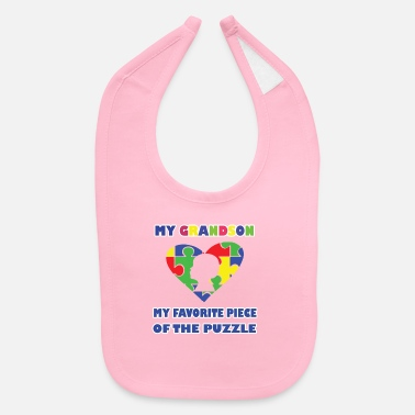 Grandson Autism Awareness Shirt Grandson Autism Spectrum Di - Baby Bib