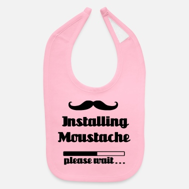 Installing moustache beard, please wait loading - Baby Bib