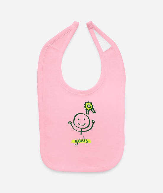 Couples Baby Bibs - Goal On Way - Baby Bib light pink