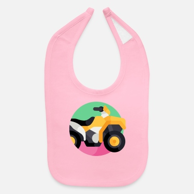 Vehicle vehicle illustration - Baby Bib