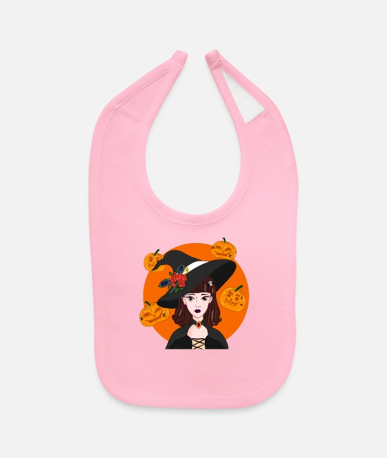 Boo Baby Bibs - Lovely Witch - Baby Bib light pink
