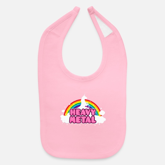 Heavy Baby Clothing - HEAVY METAL - Baby Bib light pink
