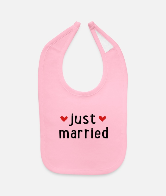 Husband Baby Bibs - JUST MARRIED - Baby Bib light pink