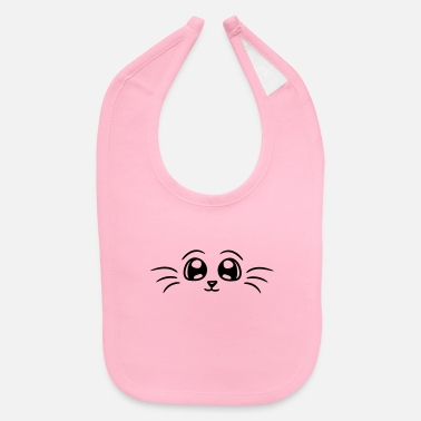 Cute baby, cute, cute, cute, cat, cute, comic, cartoon, - Baby Bib