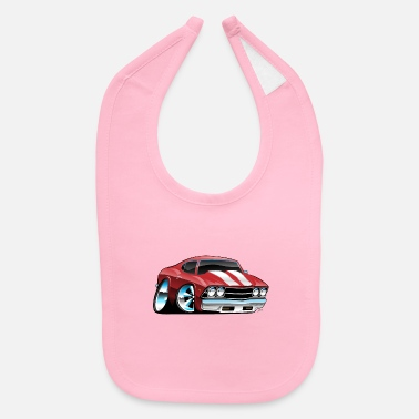Muscle Classic American Muscle Car Cartoon - Baby Bib