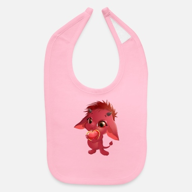 Cool imp heart love cool art - Baby Bib