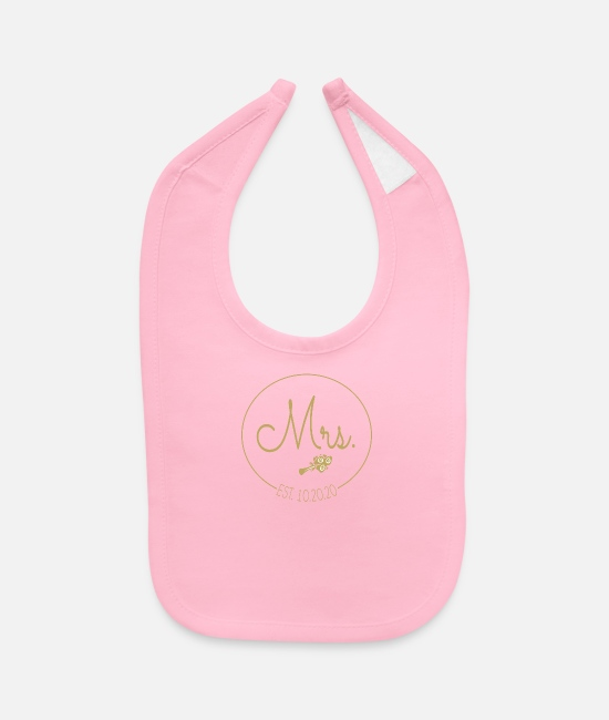 Mr Baby Bibs - Married Couple Shirt Mr and Mrs - Baby Bib light pink