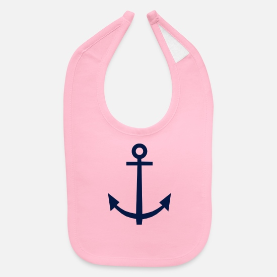 Summer Baby Clothing - Anchor - Baby Bib light pink