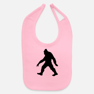 Foot Bigfoot hairy monster with fur in forest - Baby Bib