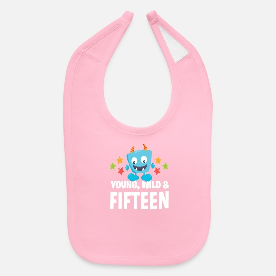 Fifteen Baby Clothing - Young wild and Fifteen - Baby Bib light pink